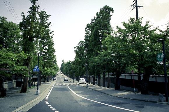 長勝寺に続く禅林街
