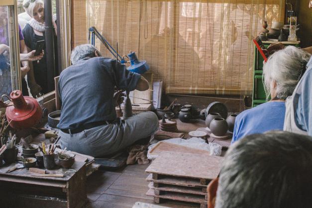 伝統工芸師の常滑の伊藤さん