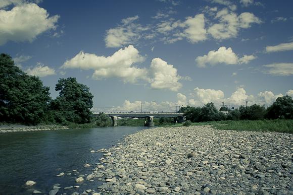 岩木川の河原