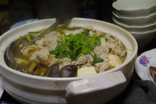 風君の野菜を使った鍋